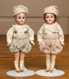 """6.5"""" K & R Brother and Sister Walking Dolls from beckysbackroom on Ruby Lane"""