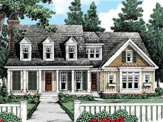 Cottage House Plan with 3496 Square Feet and 4 Bedrooms from Dream Home Source | House Plan Code DHSW53521