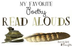 My Favorite Poetry Read Alouds - Grade Thoughts 3rd Grade Reading, Third Grade, 3rd Grade Thoughts, Bad Case Of Stripes, Reading Stamina, The Most Magnificent Thing, Turn And Talk, Forms Of Poetry, Parent Volunteers
