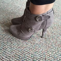 WEEKEND SALE Guess gray heels  Guess gray heels. Wore to 2 events. Really comfortable.  Guess Shoes Ankle Boots & Booties