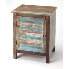 Whether sidled up beside your favorite chair, or acting as a night stand, this accent cabinet Is always a stylish stage for your most cherish mementos or alarm clock. Features ample interior storage, a distressed finish and iron hardware. - Multicolor Cabinets - Mango wood solids, Distressed Iron finished hardware Butler Specialty Company - 5317290   Butler Specialty Company 5317290 Multicolor Cabinets, Transitional   Bellacor Rustic Shutters, Distressed Frames, Dark Wood Stain, Living Room Accents, Kiln Dried Wood, Wine Storage, Furniture Making, Wood Furniture, Adjustable Shelving