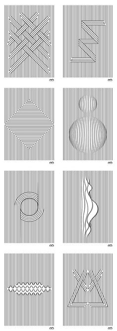 Drawings Linea - Graphic Line Illustrations by Marcos Bernardes - Linea - Simple Graphic Line Illustrations. Marcos Bernardes is working as a graphic designer, illustrator, and toy designer in Santa Catarina, Brazil. Graphisches Design, Pattern Design, Graphic Design, Pattern Art, Nails Design, Design Ideas, Design Graphique, Art Graphique, Op Art