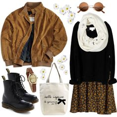 Daisies again by hanaglatison on Polyvore