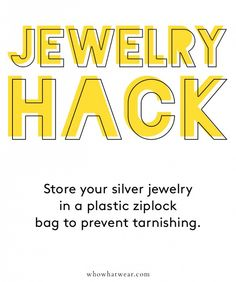 Keep your jewelry free of tarnishes with this expert trick