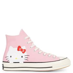 0bb1004b9e906 Converse x Hello Kitty Chuck 70 Rose prisme Aigrette Blanc Jack Purcell