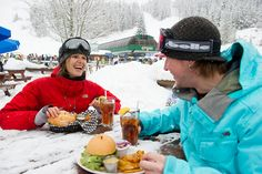 Celebrating a snowy day with an Apres at Dusty's. by GoWhistler, via Flickr  #whistler eats  #whistler restaurants