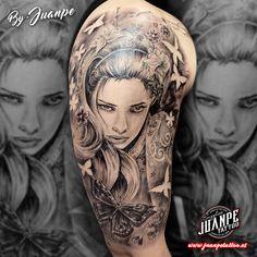 #tatuaje #tattoo #tatuaje3D #tatuajebiomecanico #juanpetattoo https://goo.gl/obStWS #blackandgreytattoo #realistictattoo #tattoorealism #japanesetattoo #tatuajejapones