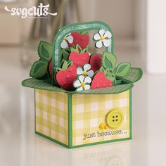 to buy summer Box Cards SVG Kit berry box filled with strawberries summer