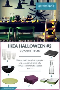 #GETTHELOOK: DECORARE LA TAVOLA COME UN COVO DI STREGHE I #ikea #halloween #getthelook: witches den #tableware
