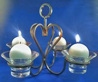 Iron Candleholder 4X Table/Hanging
