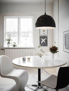 White home with a black kitchen - via http://cocolapinedesign.com
