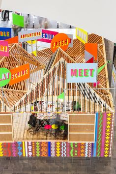 morag myerscough & luke morgan recently created a neon pavilion for the library of birmingham