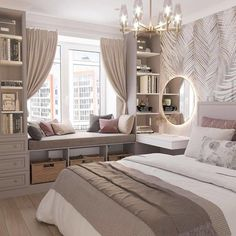 Room Design Bedroom, Luxury Bedroom Design, Home Room Design, Girl Bedroom Designs, Room Ideas Bedroom, Bedroom Layouts, Home Decor Bedroom, Luxury Kids Bedroom, Bed Room