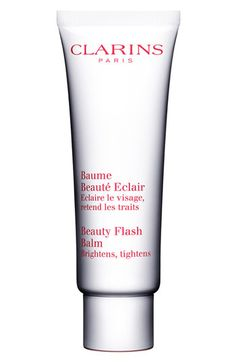 Clarins Beauty Flash Balm available at Nordstrom. Flash balm will brighten and tighten your skin. So universal you can use as a weekly mask, primer and post makeup for a little pick me up throughout the day. Amazing for traveling! Beauty Flash, My Beauty, Beauty Hacks, Beauty Balm, Beauty Tips, Beauty Stuff, Beauty Boost, Ideal Beauty, Beauty Secrets