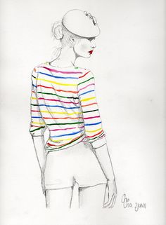 ChaCha's Fashion illustrations: Stripes