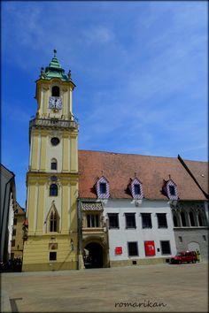 Old Town Hall Bratislava, Slovakia Bratislava Slovakia, Town Hall, Old Town, Mansions, City, Temples, Building, Castles, Travelling