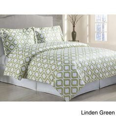 Duvet cover that pulls in the wall color. Too matchy? Or a good base so we can do contrasting color with lamps or a rug?