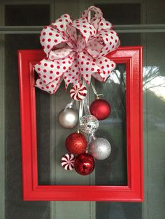 Diy christmas decorations 158470480626114682 - 60 DIY Picture Frame Christmas Wreath Ideas that totally fits your Budget – Hike n Dip Source by srirupmazumdar Diy Christmas Decorations For Home, Christmas Crafts To Make, Christmas Projects, Simple Christmas, Holiday Crafts, Christmas Gifts, Christmas Ornaments, Burlap Christmas, Christmas Ideas
