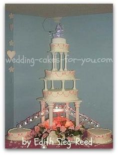 wedding cakes with fountains - Google Search