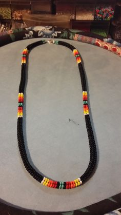 Black Native American like 24 necklace by draginrose2000 on Etsy