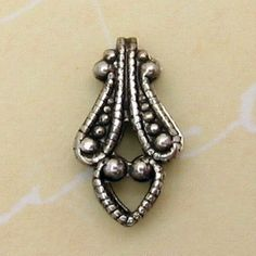 Fold Over Bail Small Antique Silver Trinity Brass 6 Pc by FabBeads, $6.50