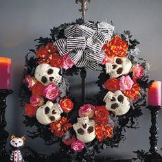 Grandin Road Dia De Los Muertos Wreath