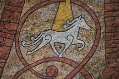 This is a carving of a Icelandic Horse. Although they were small they are still referred to as a horse. Viking Life, Viking Art, Medieval Embroidery, Viking Reenactment, Viking Culture, Rune Stones, Norse Symbols, Icelandic Horse, Asatru