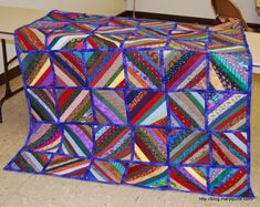 Another string quilt design, but this is a Quilt as you Go. I don't enjoy the quilting process all that much, but I've also seen how hard it is to get these quilted blocks stitched together. It's a toss up for me as to which is more difficult.