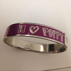 Coach bracelet Beautiful purple Coach bracelet Coach Jewelry Bracelets