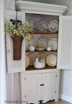 Painting Grandma's Corner Cupboard