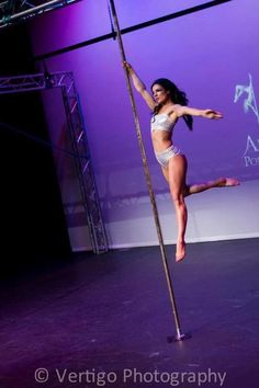 Pole Dancer Michelle Shimmy - love that she looks weightless, walking on air!