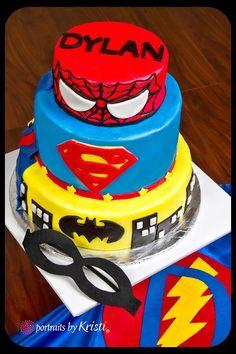 Little Delights! Super Hero Cake!