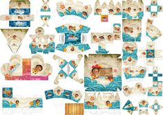 Moana Bebé: Cajas para Imprimir Gratis.