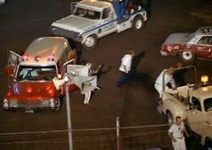 """Infield Ambulance California #106 1962 Caddy. On CHiPs at Ascot Motor Speedway. Episode """"Demolition Derby"""""""