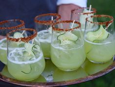 This tequila cocktail is especially refreshing, thanks to the delicate combination of cucumber and mint. Meanwhile, the Tajin chili lends it an unexpected kick.