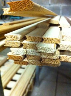 Boards ready shaved, sanded and milled. 22 mm wide, working width 19 mm