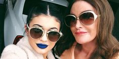Blue lipstick and more #bluemakeup on Anything-Blue.com  Kylie Jenner