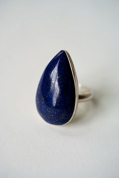 I OWN THIS! My favorite ring, and I wear it every day. Starry Night Lapis Lazuli ring  PREMADE by hannahnaomi on Etsy, $89.00