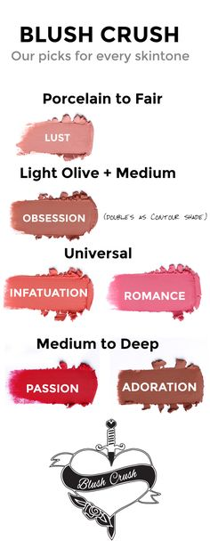 We've made a guide for choosing what Blush Crush suits your skin best! Feel free to make your own rules #lusciouscosmetics