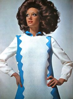 Marisa Berenson in a dress by Mila Schön, photo David Bailey, Vogue UK March 1969