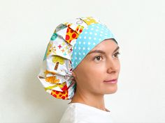 Hat Patterns To Sew, Sewing Patterns, Pencil Case Tutorial, Scrub Caps, Step By Step Instructions, Pattern Fashion, 1 Piece, Scrubs, Manual