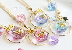 Kawaii Jewelry, Kawaii Accessories, Handmade Accessories, Cute Jewelry, Diy Jewelry, Jewelery, Jewelry Accessories, Resin Jewelry, Crystal Jewelry