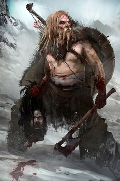Barzerker by BnochAdams | Fantasy character berserker barbarian wildman nord warrior