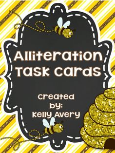 These alliteration activities are perfect for kids  learning about this type of figurative language!  Click here to discover how these engaging task cards and activities can help your students incorporate alliteration into their writing!