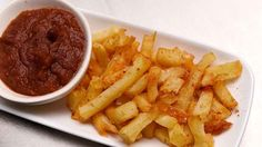 Twice Cooked Chips with a Whisky Sauce