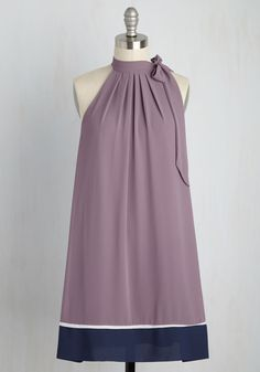 Every Mingle Time Dress. Each n every soiree that finds you doing the rounds in this purple shift dress seems to have an upbeat ambiance. #purple #modcloth