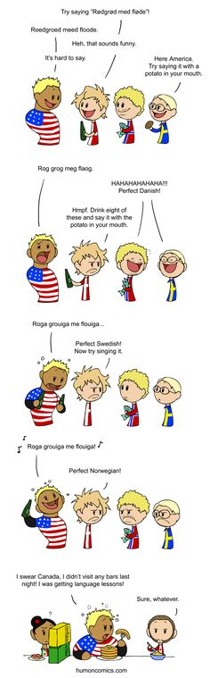 Messing with America.   Denmark wanted America to say it because Danes love to make foreigners say it.  All the other Nordic countries joke that Danish sounds like Swedes talking with a potato or porridge in their mouths, while Danes joke that Swedes sound like drunk Danes, and Norwegians sound like drunk Danes singing.