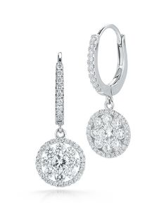 Fantasia Round Diamond Drop Earrings - Roberto Coin