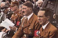 * Adolf Hitler & Joseph Göbbels * # Stuttgart, Germany. 1933. During Gymnastics Celebrations.