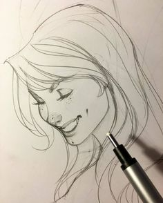 ✏️ Late night drawing again. Anyone else burning the midnight oil. Comic Book Artists, Comic Artist, Comic Books Art, Face Sketch, Drawing Sketches, Art Drawings, Smile Drawing, J Scott Campbell, Art Et Illustration